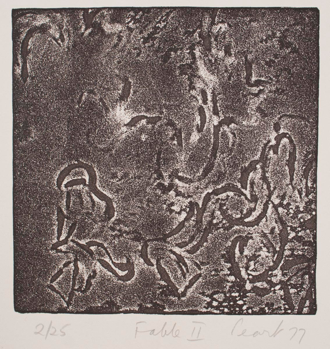 John Peart 'Fable II' - etching on paper