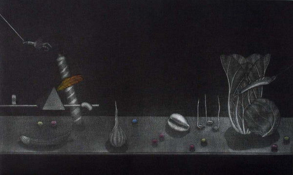 Graeme Peebles 'Billiards' - mezzotint on paper