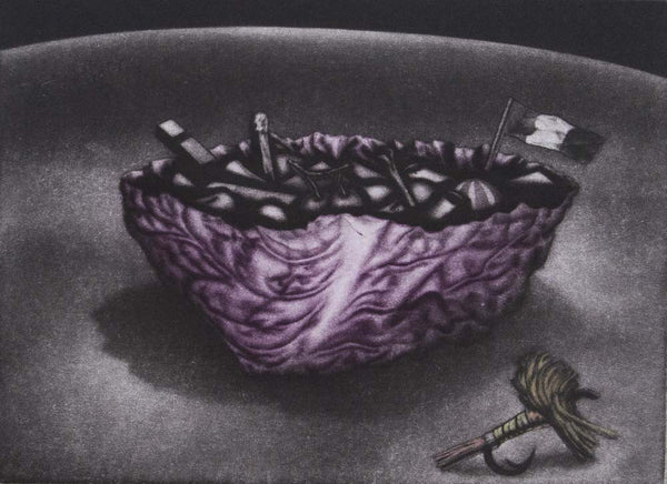 Graeme Peebles 'Cabbage Soup' - mezzotint on paper
