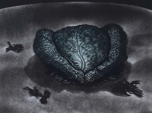 Graeme Peebles 'Mrs Simpson' - mezzotint on paper