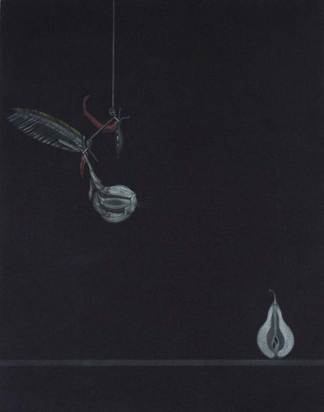 Graeme Peebles 'Year of Vampires' - mezzotint on paper