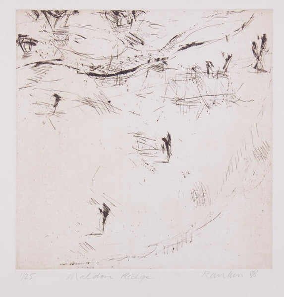 David Rankin 'Maldon Ridge' - etching on paper