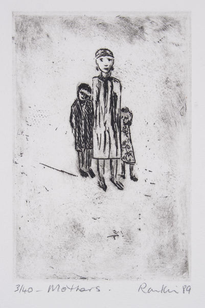 David Rankin 'Mothers' - Etching on Paper