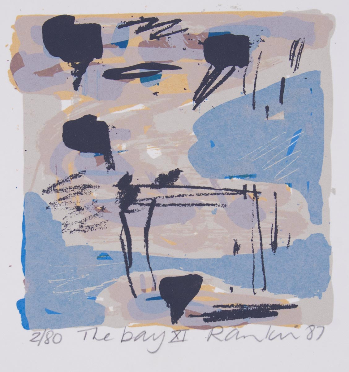 David Rankin 'The Bay XI' - screenprint on paper