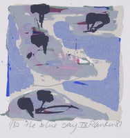 David Rankin 'The Blue Bay IX' - screenprint on paper