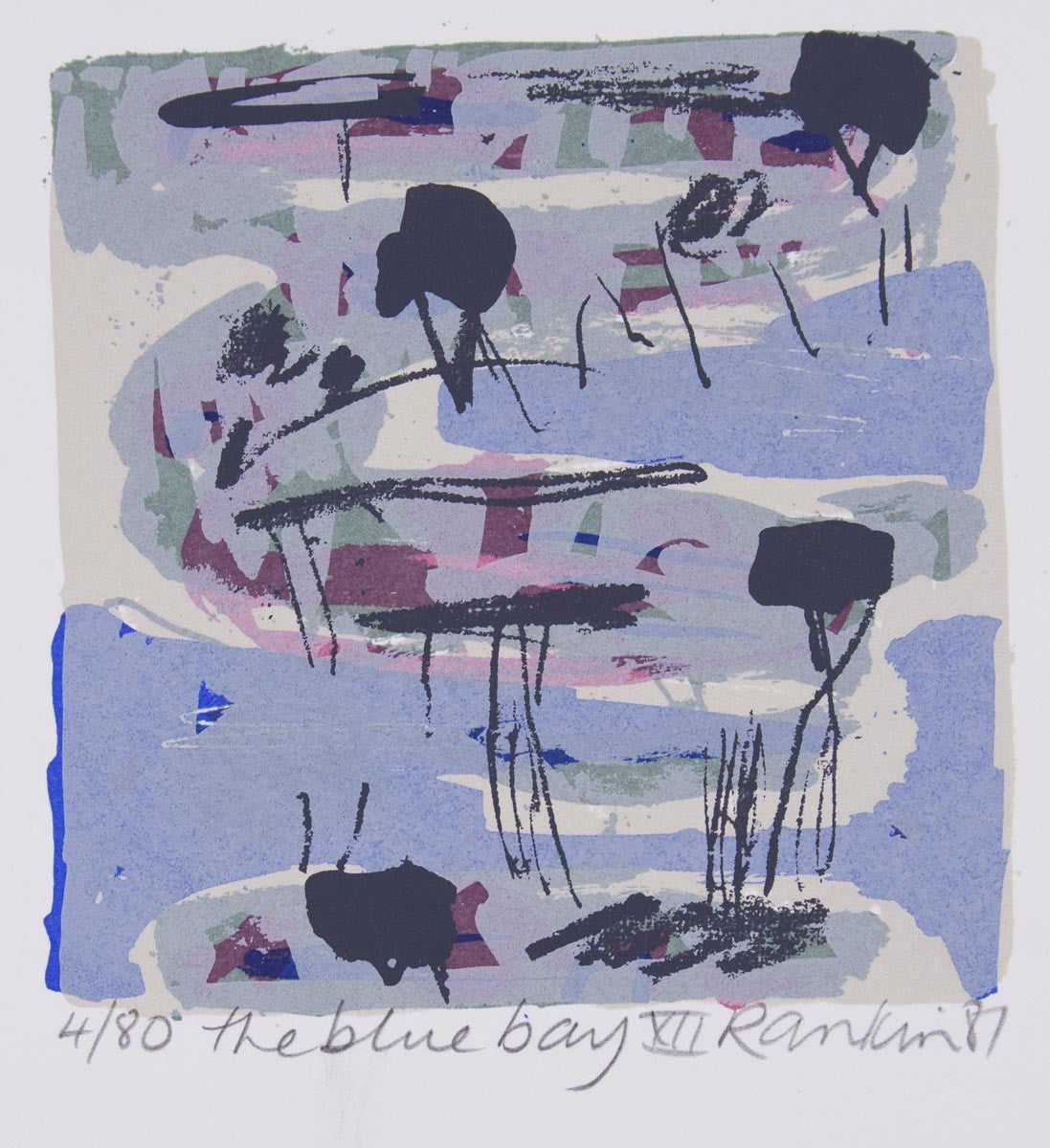 David Rankin 'The Blue Bay XII' - screenprint on paper