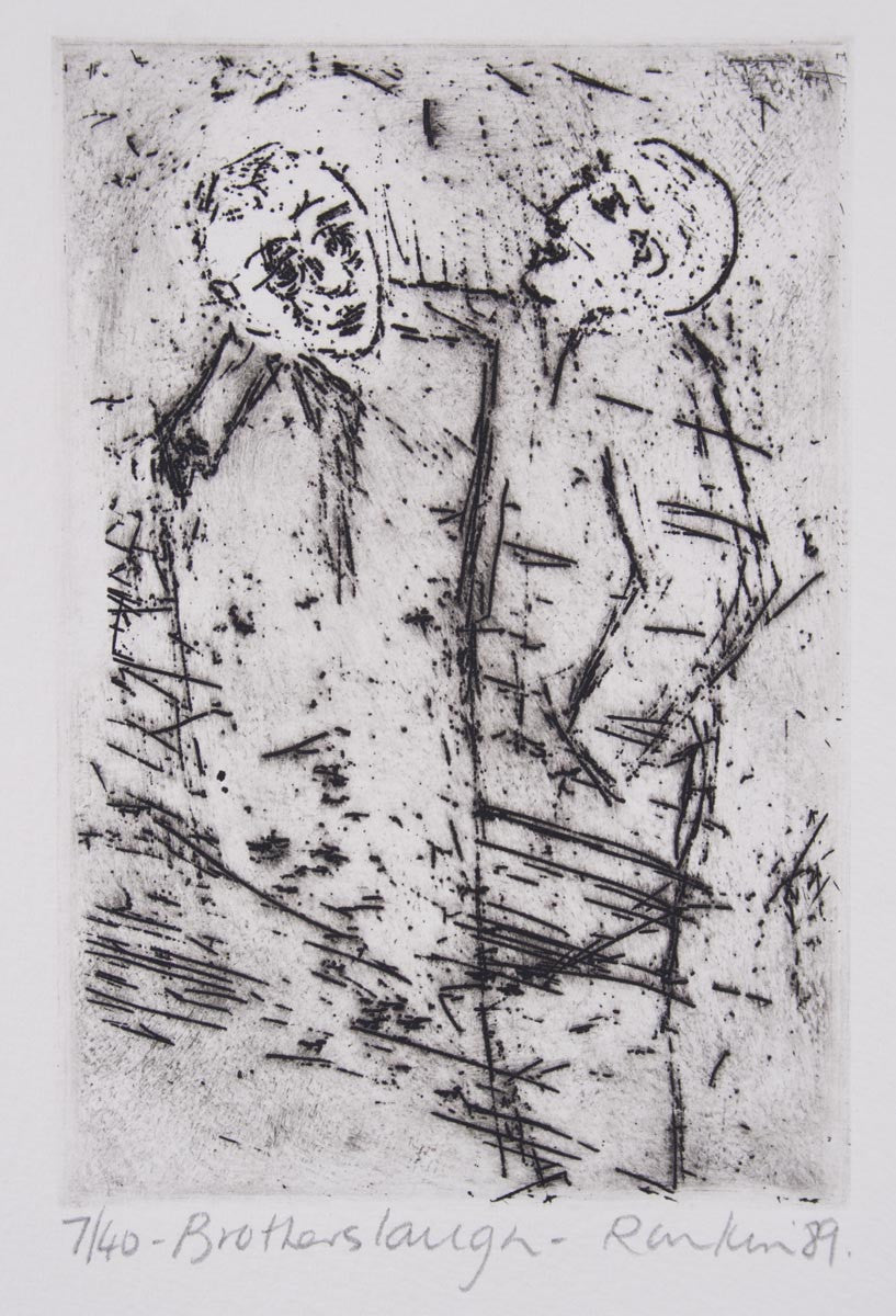 David Rankin 'The Brothers Laugh' - Etching on Paper