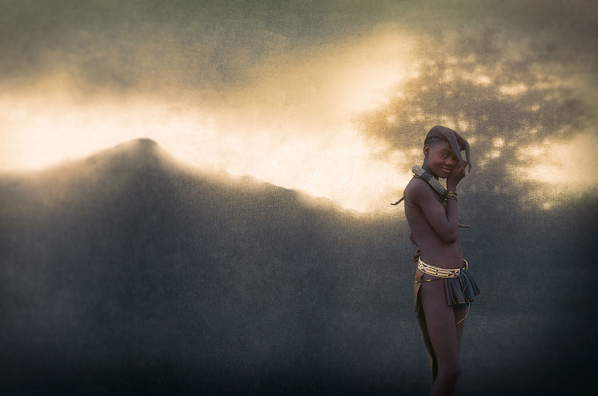 Christopher Rimmer 'Ovahimba Girl in the Landscape, Southern Angola'
