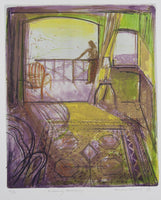 Brian Seidel 'Evening Balcony' - Lithograph on paper
