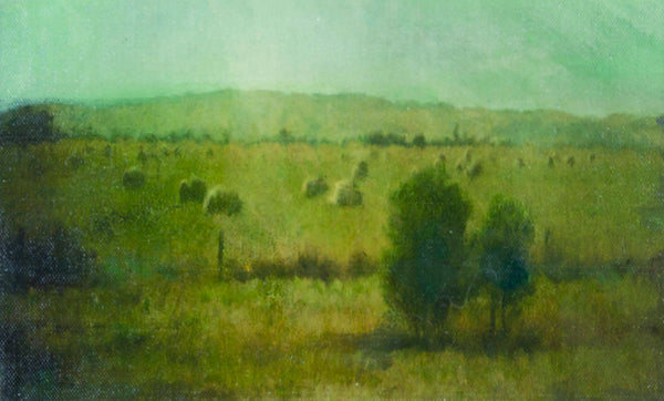 Erica Tandori 'Hay Bales in Dawn Light (Gippsland, Victoria)'