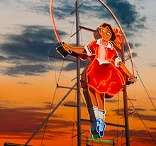 Load image into Gallery viewer, Jim Thalassoudis 'Little Audrey the Skipping Girl' - - limited edition fine art print