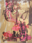 Ann Thomson 'Red, Pink and Brown Abstract'