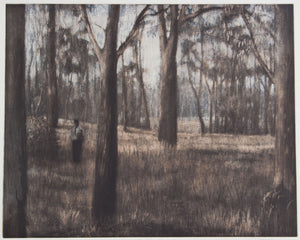Louise Tomlinson 'The Grass Castle King ' - etching on paper