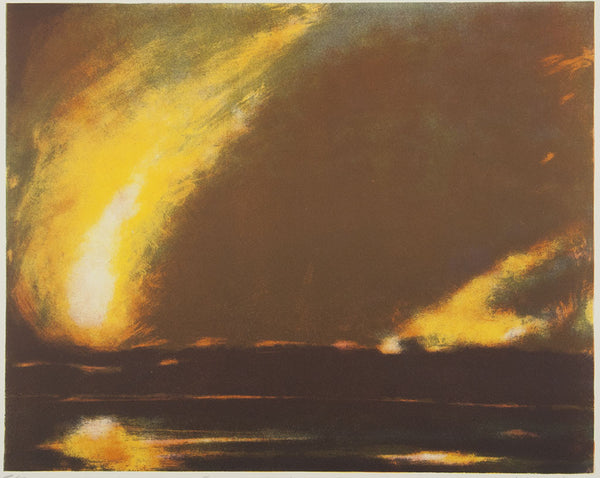 Wayne Viney 'Fire and Water' - lithograph on paper