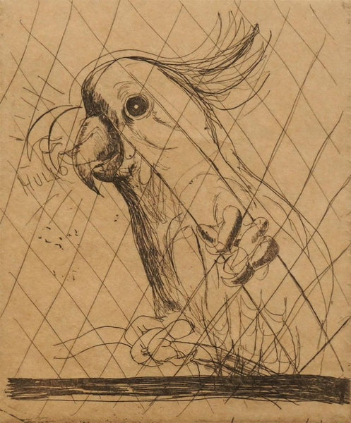 Brett Whiteley 'Hullo (Cockatoo)'