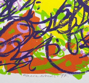 Maeve Woods 'Untitled Work (Tumbling Scribble)' - screenprint on paper