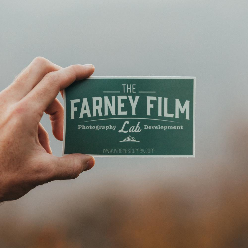 Farney Film Lab Sticker - Where's Farney