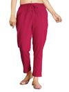 INCOTTONS Pink Rayon Lycra Trouser For Women And Girls