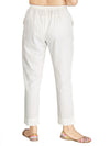 INCOTTONS White Rayon Lycra Trouser For Women And Girls