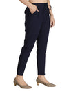 INCOTTONS Navy Blue Rayon Lycra Trouser For Women AndGirls
