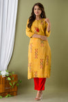 INCOTTONS PREMIUM MUSLIN YELLOW COLOR KURTA FOR WOMEN AND GIRLS
