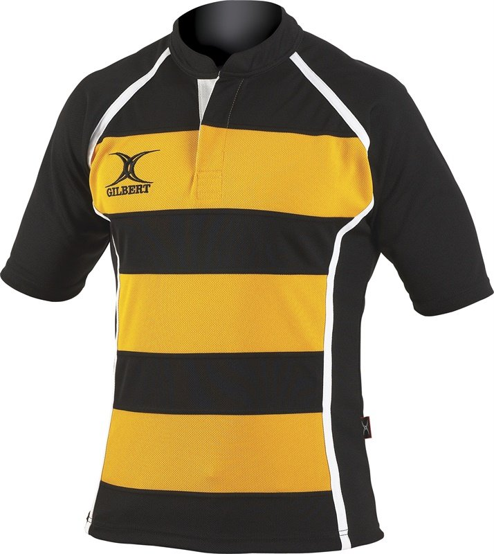 Gilbert Mens Hooped Xact Rugby Match Shirt
