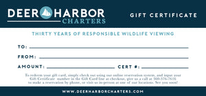 Gift Cards - Whale & Wildlife Tours