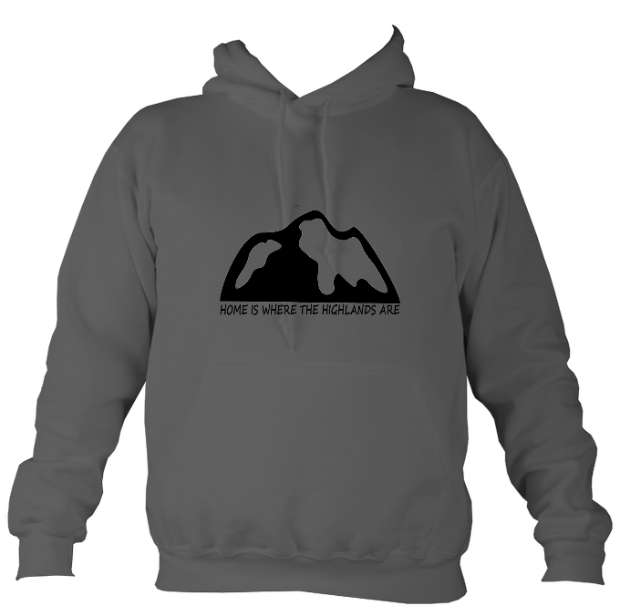 Unisex HOME IS WHERE THE HIGHLANDS ARE HOODIE (nae snow)