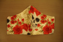 Load image into Gallery viewer, Skull n Roses - Locally Hand-made Facemask