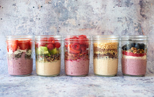 Our smoothie bowl dishes are high n fibre and high in taste