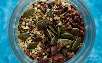 seeds and nuts are great additions to smoothie bowls