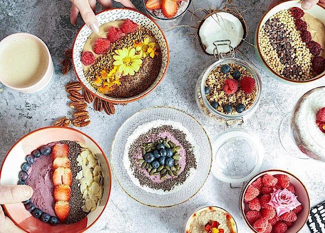 Ketonika smoothie bowls and healthy toppings are excellent anti-inflammatory products