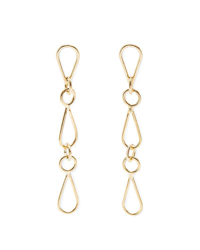 Art deco gold vermeil chain earrings | All Its Forms