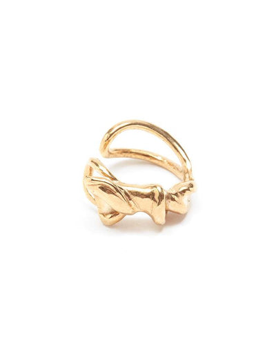 Twisted gold vermeil ear-cuff | All Its Forms