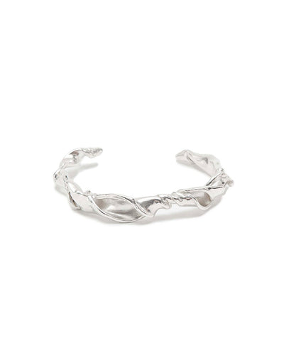 Fluid twisted recycled silver cuff | All Its Forms