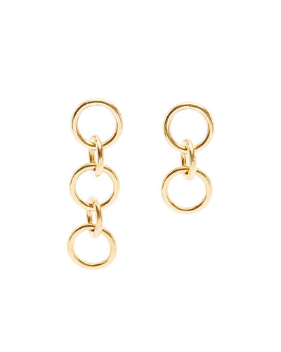 Round chain earrings | Gold Vermeil