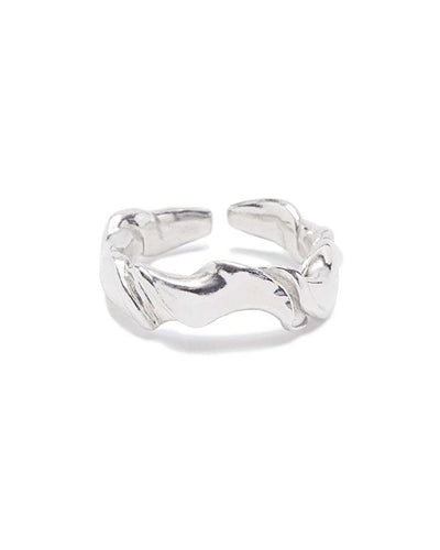 Twisted recyled sterling silver ring band | All Its Forms