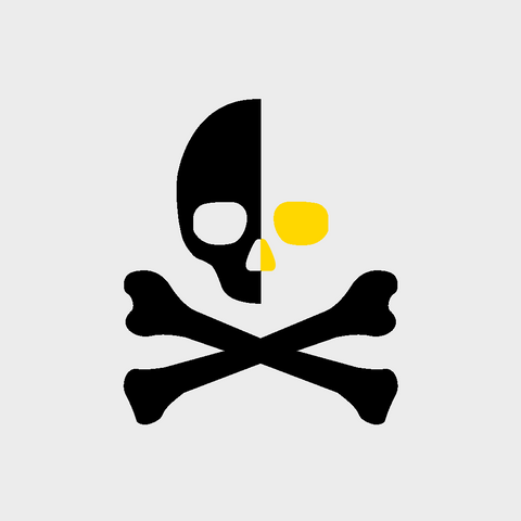 The Skull's Gold Alt Logo - Skull and Crossbones