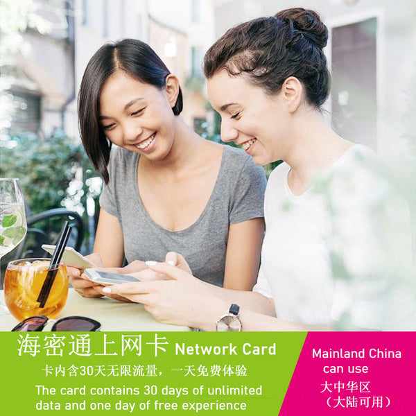 China Unlimited Data Card for 30 Days