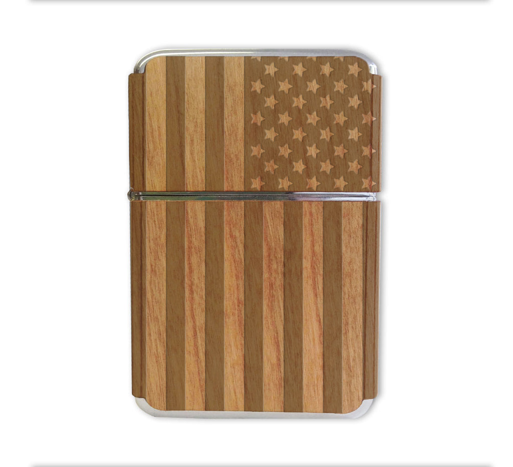 American Flag Wood Lighter