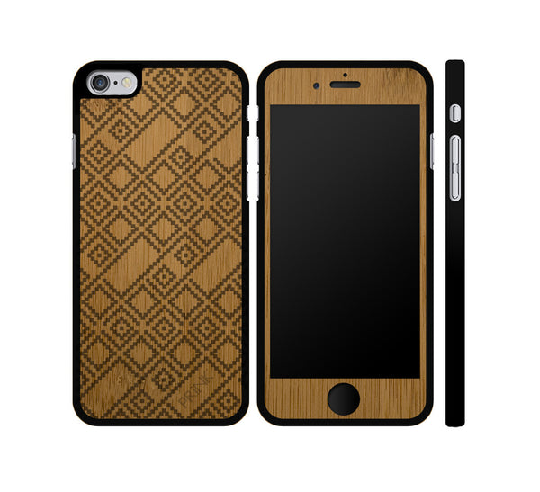 """Sweater Pattern"" - bamboo iPhone case"