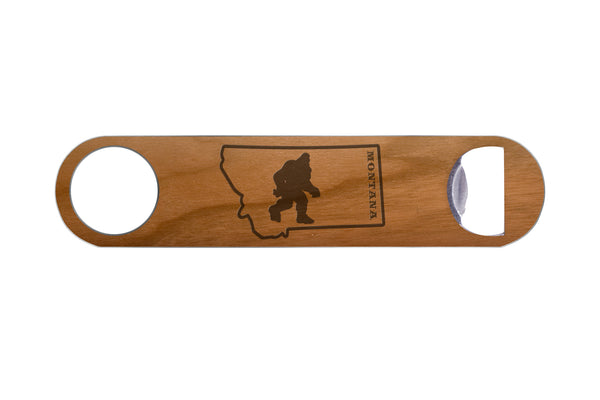 Bigfoot in Montana Real Wood & Steel Bottle Opener