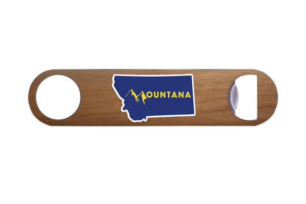 Mountana Real Wood & Steel Bottle Opener