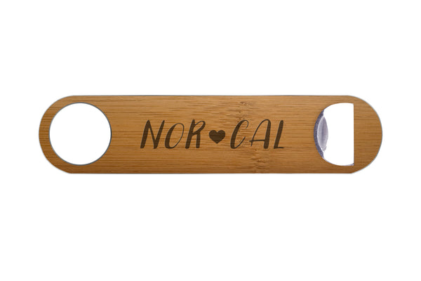 Nor Cal Real Wood & Steel Bottle Opener