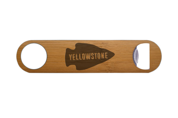 Yellowstone Real Wood & Steel Bottle Opener