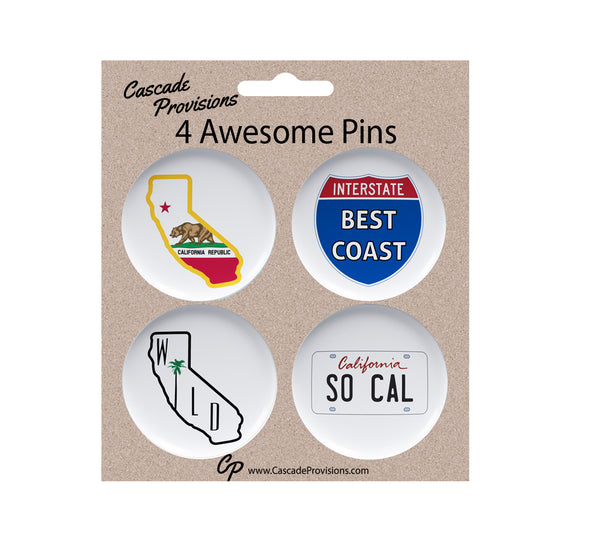 So Cal Magnet or Pin Pack of 4