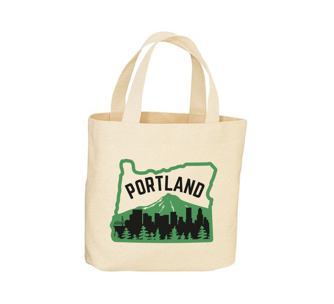 Portland Skyline Canvas Tote Bag