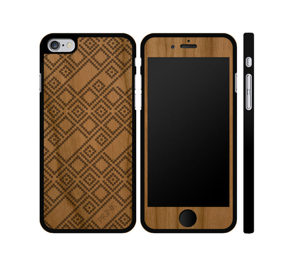 """Sweater Pattern"" - cherry wood iPhone case"
