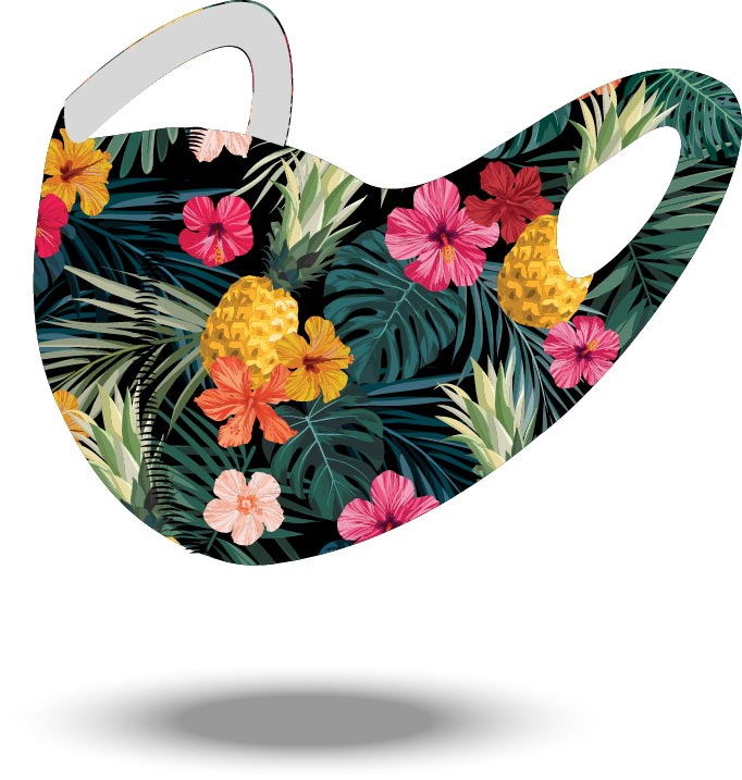 Tropical Reusable Soft Style Mask