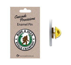 Hide and Seek World Champion Enamel Pin